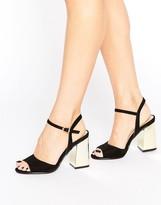 Boohoo Metallic Heeled Sandals