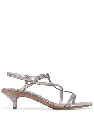 Del Carlo Embossed Style Strappy Sandals