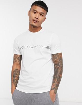 Armani Exchange chest logo t-shirt in white