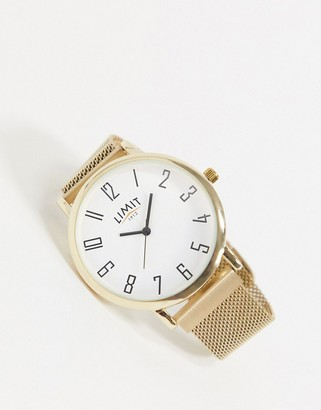 Limit magnetic mesh watch in gold