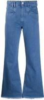 Isabel Marant high-rise flared frayed-hem jeans