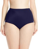 Maxine Of Hollywood Women's Plus-Size Full Bikini Bottom