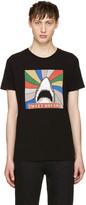 Saint Laurent Black Sweet Dreams Shark T-Shirt