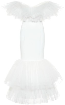 Alessandra Rich Tulle bridal gown