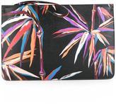 Emilio Pucci palm tree print clutch - women - Calf Leather/Polyester/Polyurethane - One Size