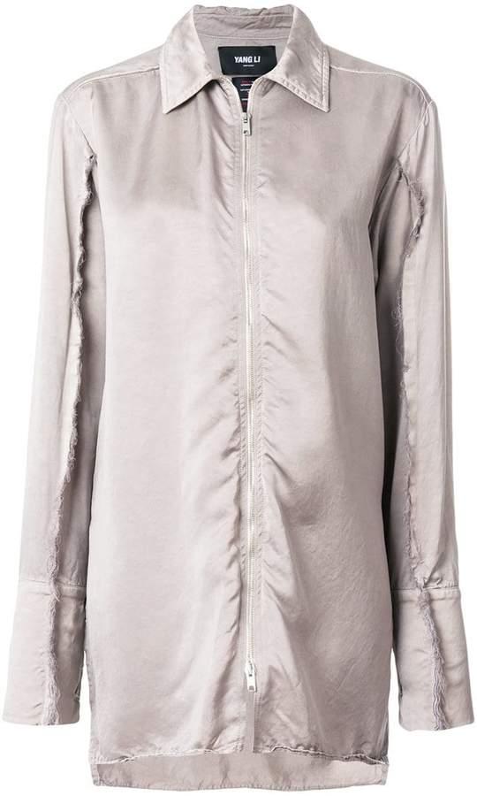 Yang Li long zipped shirt
