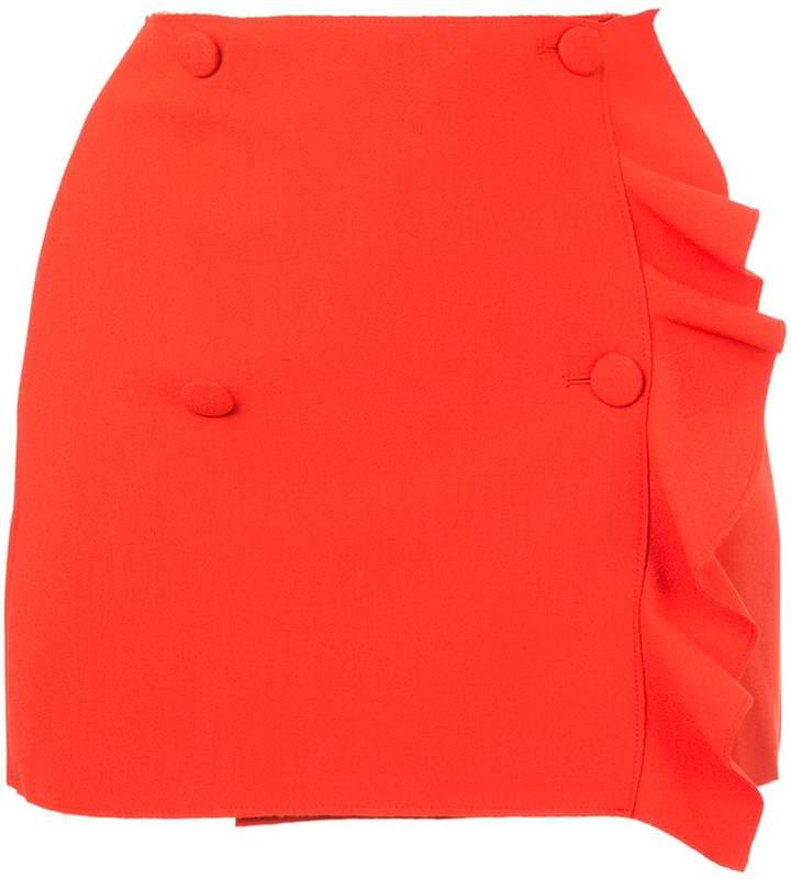 MSGM asymmetric ruffle skirt