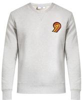 Ami Embroidered cotton-jersey sweatshirt