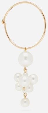 Sophie Bille Brahe Boticelli Pearl & 14kt Gold Hoop Single Earring - Pearl