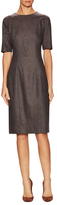 Carolina Herrera Wool Short Sleeve Sheath Dress