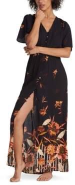 Billabong Juniors' Autumn Breeze Floral-Print Maxi Dress