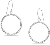 Zales Diamond FascinationTM Circle Drop Earrings in 14K White Gold