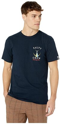 Salty Crew Tailed Short Sleeve Tee (Navy) Men's T Shirt