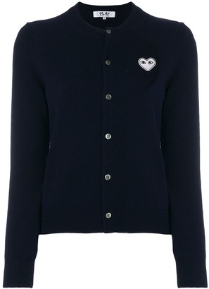Comme des Garcons Embroidered heart cardigan