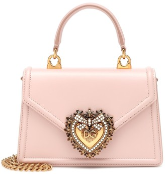 Dolce & Gabbana Devotion Small leather shoulder bag