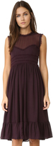 Cynthia Rowley Raw Edge Ruffle Dress