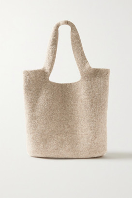 LAUREN MANOOGIAN Oval Cotton, Alpaca And Wool-blend Tote - Beige
