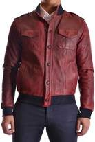 Orciani Men's Red Leather Outerwear Jacket.