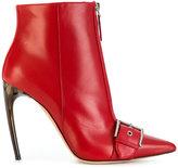 Alexander McQueen zip front booties