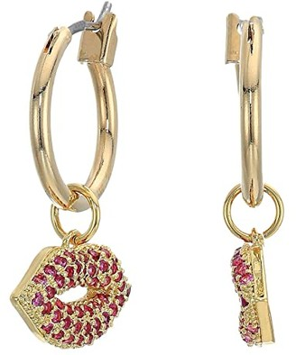 Vanessa Mooney The Pink Kiss Earrings (Gold Plated) Earring