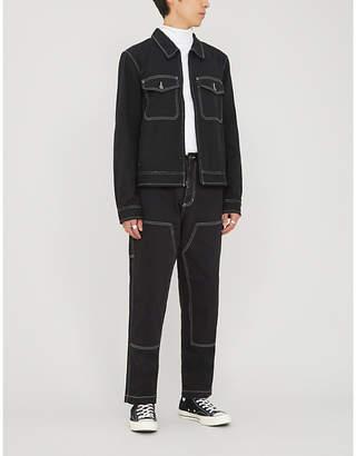 Stussy Overstitched cotton-twill jacket