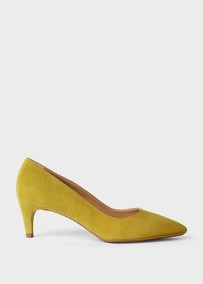 Hobbs Polly Suede Kitten Heel Court Shoes
