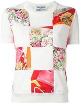 Salvatore Ferragamo multi print T-shirt