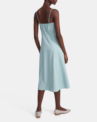 Theory Button Front Dress in Good Linen