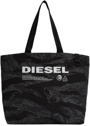 Diesel Black and Grey D-Thisbag Shopping Tote