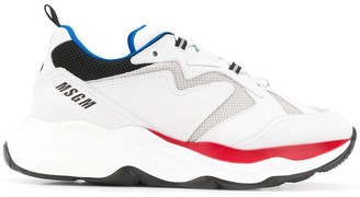 MSGM Contrast-Panel Low Top Trainers