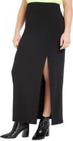 ELOQUII Side Slit Stretch Matte Jersey Maxi Skirt