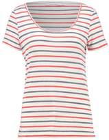 Samsoe & Samsoe NOBEL Print Tshirt red/blue