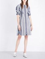 Sportmax Umano cotton and linen-blend woven dress