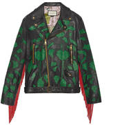 Gucci Intarsia leather biker jacket