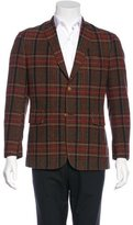 Black Fleece Wool Plaid Sport Coat