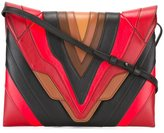 Elena Ghisellini panelled shoulder bag - women - Calf Leather - One Size