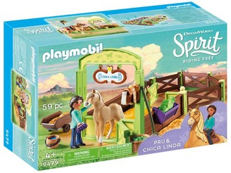Playmobil DreamWorks Spirit Riding Free Pru & Chica Linda with Horse Stall