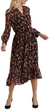 Lucky Brand Georgia Floral-Print Midi Dress