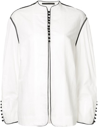 Haider Ackermann Oversized Button Front Jacket