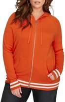 Addition Elle Love And Legend Plus Long Raglan Sleeve Zip Hoodie