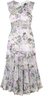 Alice McCall Oh So Lovely Floral-print Mesh Midi Dress
