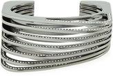 Vita Fede Futturo Segmented Gunmetal Crystal Cuff Bracelet