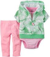 Carter's 3-pc. Cardigan, Bodysuit and Pants Set - Baby Girls newborn-24m