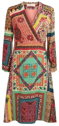 Etro Patchwork Print Wrap Dress