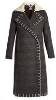 Edun Nub double-breasted checked wool coat