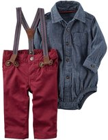 Carter's Baby Boy Chambray Bodysuit & Suspender Pants Set