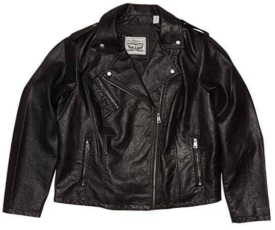 Levi's Plus Size Classic Asymmetrical Faux Leather Motorcycle Jacket Women's Clothing
