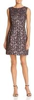 Betsey Johnson Metallic Floral Jacquard Dress