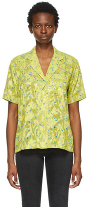 6397 Yellow Floral PJ Short Sleeve Shirt