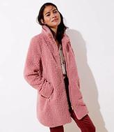 LOFT Fleece Funnel Neck Coat